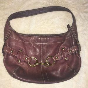 Coach burgundy hobo bag purse